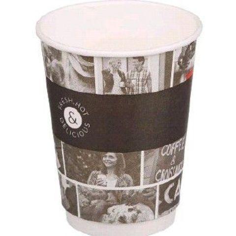 Бумажный одноразовый стакан 400/473мл DW16