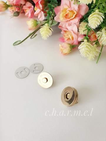 Кнопка магнитная диаметр 18 мм, золотой