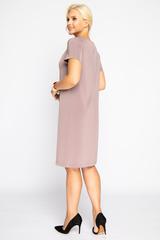 <p>Классическое платье прямого силуэта. Разрез по переду, по горловине складки.Длина изделия 44р.-94см. 46р.-95см. 48р.-97см. 50р.-98см.</p>