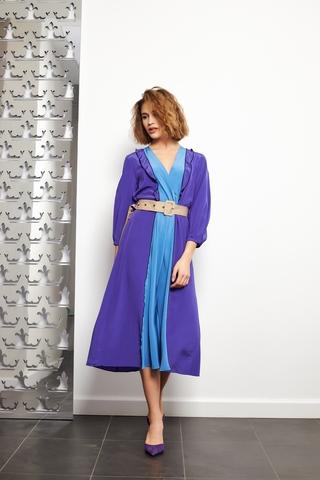 Dorothee Schumacher Платье двухцветное шелковое