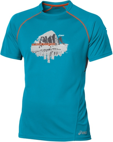 Беговая футболка Asics M'S TRAIL GRAPHIC TOP синяя