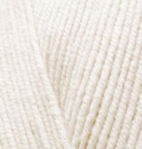 Пряжа Alize Cotton Gold 62 молочный