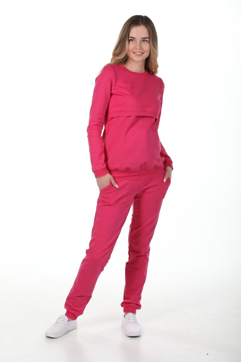 Спортивный костюм для беременных и кормящих 09973 малиновый