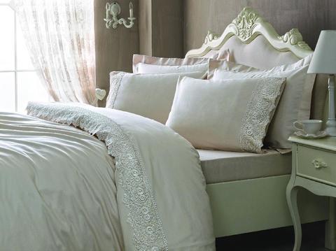 Сатиновое постельное бельё 1,5 спальное, ELEGANT пудра
