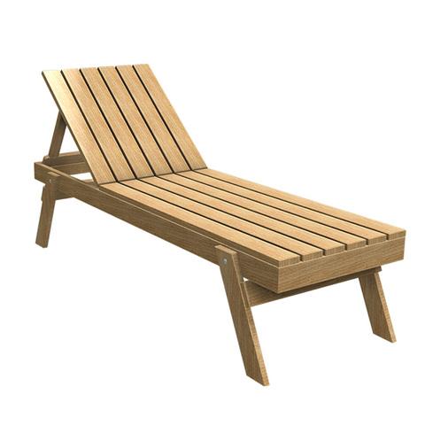 Лежак деревянный Contact Plus Тип 2 Лежак Тип 2 ольха