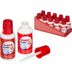 Корректирующая жидкость (штрих) Kores Soft Tip Fluid быстросохнущая 25 мл