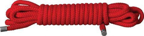 Красная веревка для связывания Japanese Rope - 5 м.