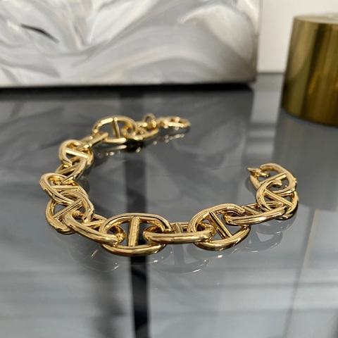 Браслет-цепь с звеньями в форме пряжек (золотистый)
