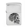 Зажигалка Zippo Tattoo Skull с покрытием Satin Chrome™, латунь/сталь, серебристая, матовая