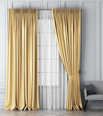 Комплект штор Габриэль золотой