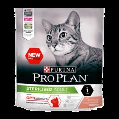 Purina Pro Plan Optisenses Сухой корм для стерилизованных кошек и кастрированных котов для поддержания органов чувств с Лососем