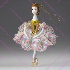 Ёлочная игрушка Балерина кружевная