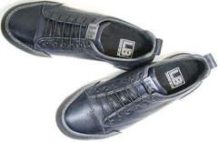 Осенние кожаные кроссовки синие мужские Luciano Bellini C6401 TK Blue.