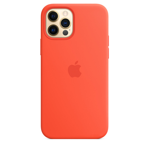 Чехол iPhone 12/12 Pro Silicone Case with MagSafe /electric orange/