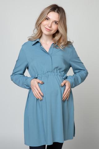 Рубашка для беременных 10921 индиго