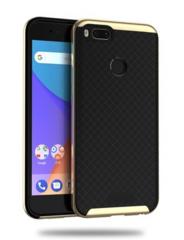 Силиконовый чехол для Xiaomi Mi A1 (Золотой/Решетка)