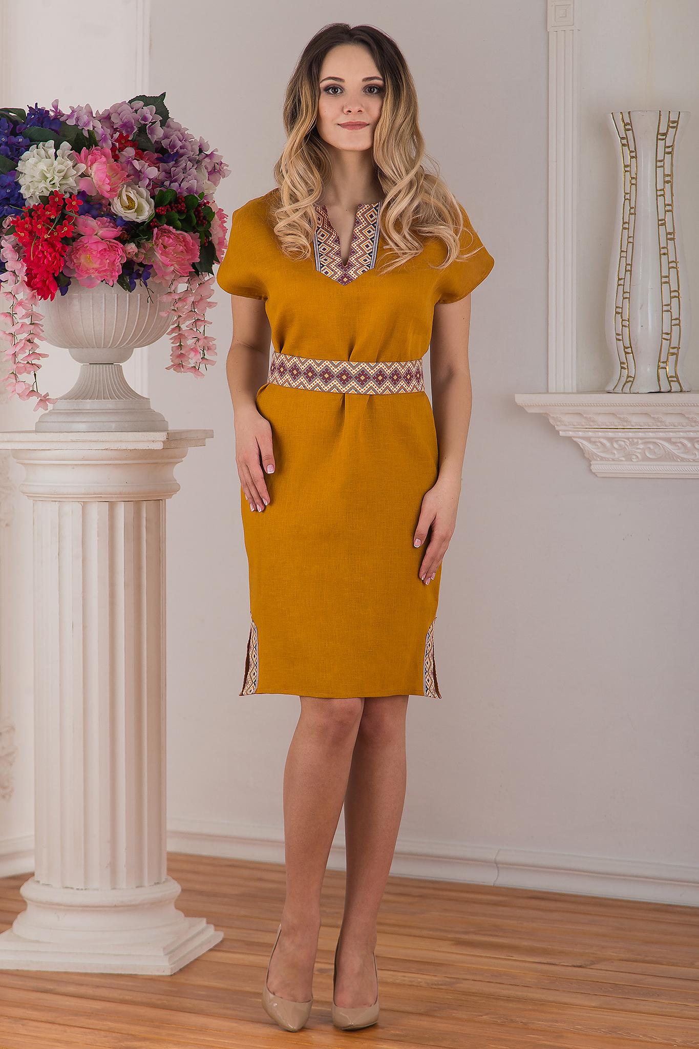 Современное льняное платье Византия от Иванка