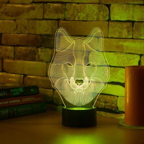 3D ночник Волк