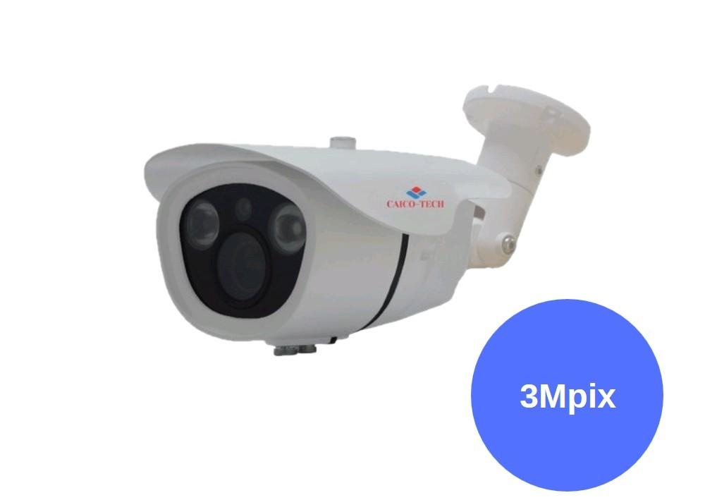 Уличная видеокамера наблюдения CAICO-TECH C25R3MYGG AHD-TVI 3 Мп.