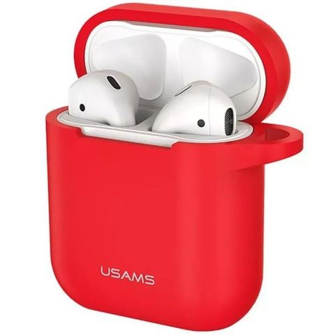 Чехол для Airpods 2 USAMS Silicone Protective Case (Красный)