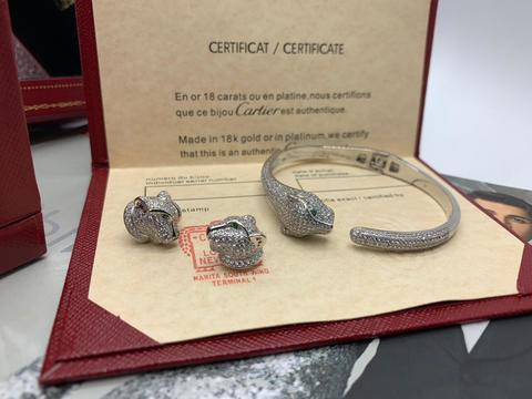 Комплект Cartier Panthere (браслет и серьги)