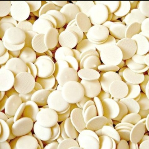 Глазурь кондитерская белая Caribe Bianco Dischi (пр-во Италия), 100г.