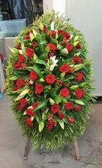 Венок из живых цветов заказной ВЖ- 04