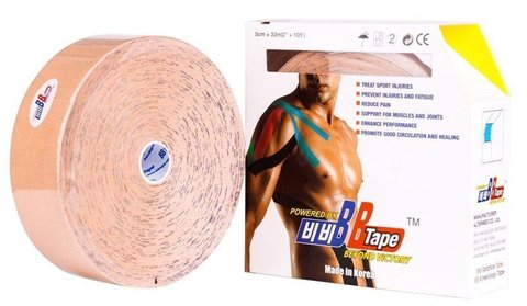 BBtape кинезио тейп 5см х 0.5м   (32м)
