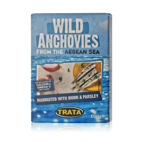 Анчоус европейский маринованный с луком и петрушкой TRATA 100 гр
