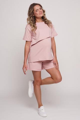 Спортивный костюм для беременных и кормящих 12528 розовый