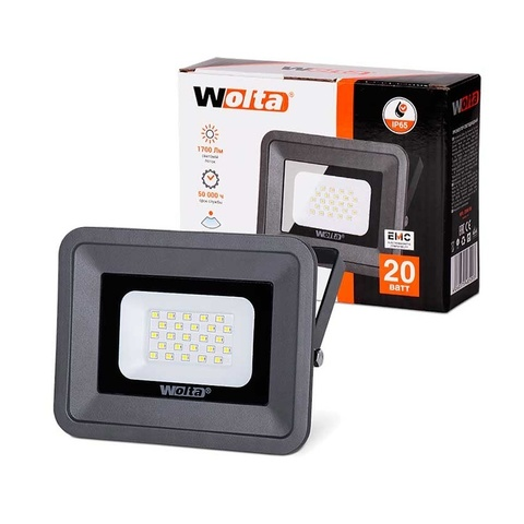 Прожектор светодиодный WOLTA WFL-20W/06 5500K 20W IP65