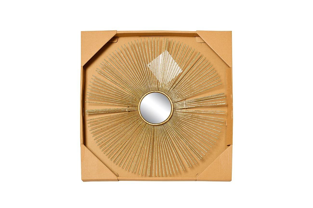 37SM-0533 Зеркало декоративное золотое 38,7*38,7*2,5см, центр.диам.8,5см