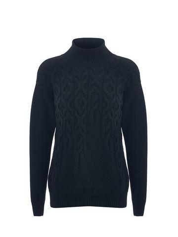 Женский свитер черного цвета из 100% кашемира - фото 1