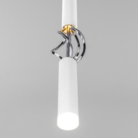 Подвесной светодиодный светильник 50191/1 LED белый/хром