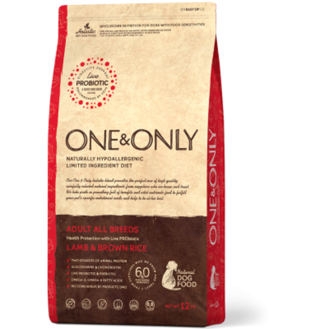 One&Only Lamb & Brown Rice Adult All Breeds - 12 кг
