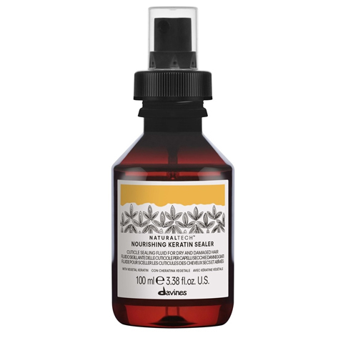 Davines NaturalTech Nourishing: Питательный флюид для волос, запечатывающий кератин (Nourishing Keratin Sealer)