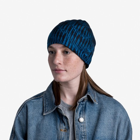 Тонкая флисовая шапочка Buff Hat Polar Microfiber Zoom Blue фото 2