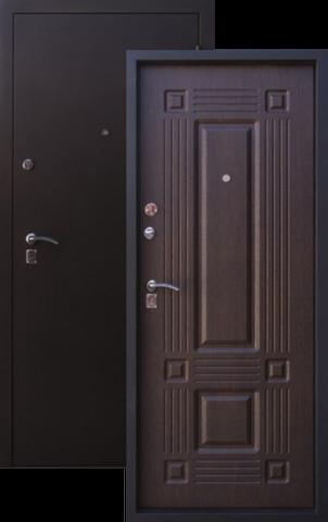 Дверь входная Рубин стальная, венге, 2 замка, фабрика Алмаз