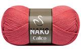 Пряжа Nako Calico коралловый 11037