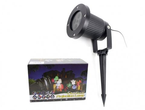 Уличный лазерный проектор с рисунками Festival Projection Lamp