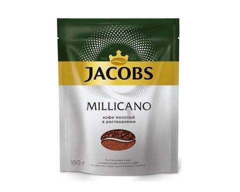 Кофе растворимый Jacobs Monarch Millicano с молотым кофе, 150 г
