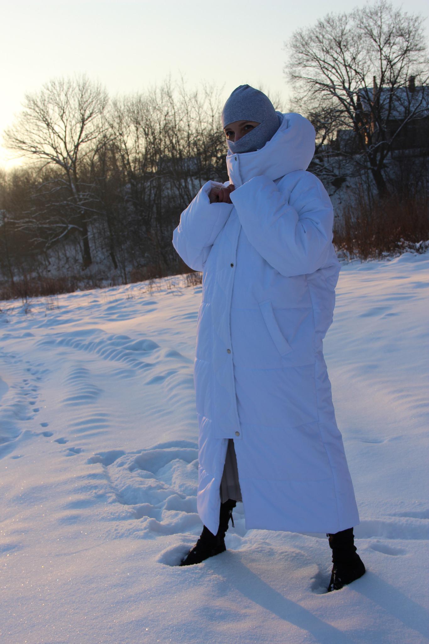 Пальто утеплённое, стёганое, длина маxi