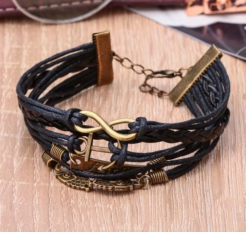 Купить браслет в морском стиле с совой - Магазин тельняшек.ру 8-800-700-93-18Браслет
