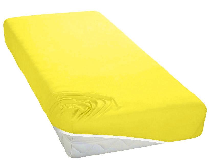 TUTTI FRUTTI лимон - Полутораспальная простыня на резинке