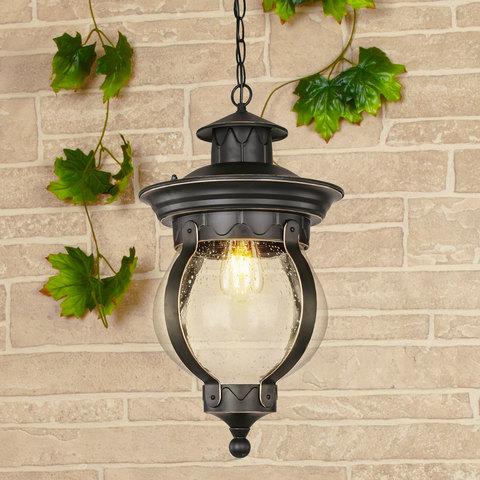 Barrel H черное золото уличный подвесной светильник IP44 GL 1025H