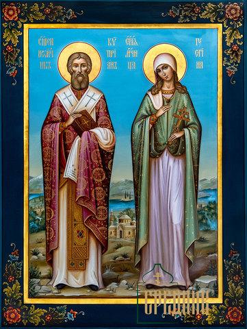 Икона Святые священномученик Киприан и мученица Иустина
