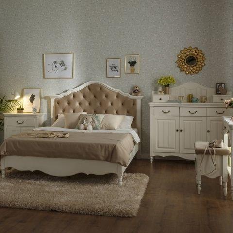 Спальня Айно 6 (белый скандик)