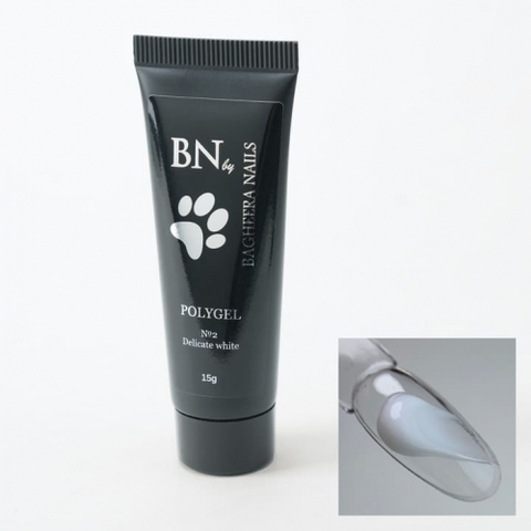Полигель для моделирования BN №1 Bright white, 15гр