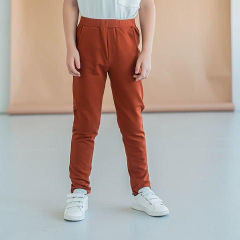 Chinos for teens - Terracotta