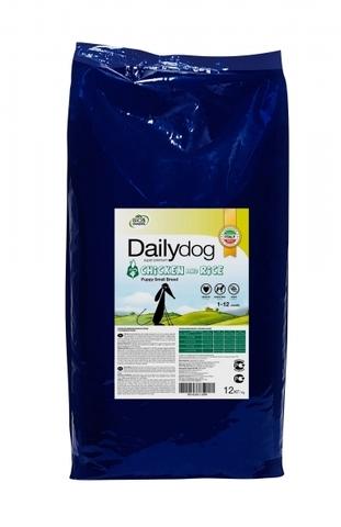Сухой корм DailyDog для щенков мелких пород с курицей и рисом 12 кг